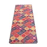 JAP Sports - Yoga Matte Rutschfest XXL Dicke aus Naturkautschuk 2-in-1 von Matte und Handtuch ideal für Hot Yoga Bikram Ashtanga 1800 x 600 x 5 mm - Indian