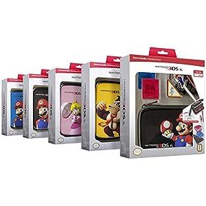 """Nintendo new 3DS XL / 3DS XL – Zubehör-Set """"Official Essential Mario Pack"""" (farblich sortiert, Farbe nicht wählbar)"""