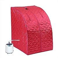 Hogar Portátil 2l Steam Sauna SPA Andamio Rojo Tienda SPA Adelgazamiento Terapéutico a Pérdida de Peso Máquina a Prueba de Explosiones Evaporador para El Hogar SPA Cuidado(EU Plug)
