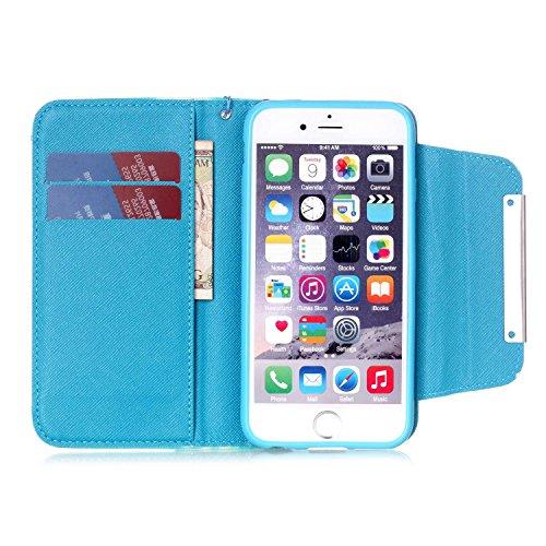 """MOONCASE iPhone 6 Plus Case 2 in 1 avec détachable Coque en Cuir Portefeuille Housse de Protection Étui à rabat Case pour iPhone 6 Plus (5.5"""") -FT07 FT08"""