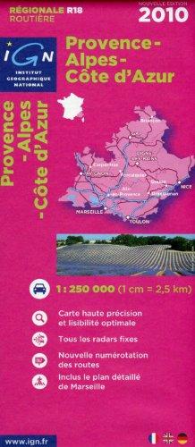 Provence-Alpes-Côte-d'Azur : 1/1 000 000