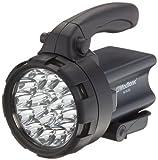 MacTronic 9018 LED - Faro piloto cargable con 18 LED, color negro