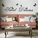 Sweet Dreams DIY Removable Art Vinyl Quote Wall Sticker Decal Mural Home Room D¨¦cor