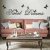 Vinilo decorativo de pared extraíble, para decorar tú mismo la habitación, vinilo, negro, 89.9 cm L X 59.9 cm W