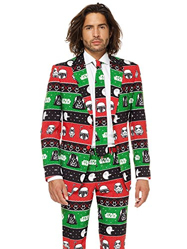 Opposuits Official Star Wars Suit - Festive Force Costume Comes with Pants, Jacket and Tie, Festive Force, - Mrs Claus Kleid Für Erwachsene Kostüm