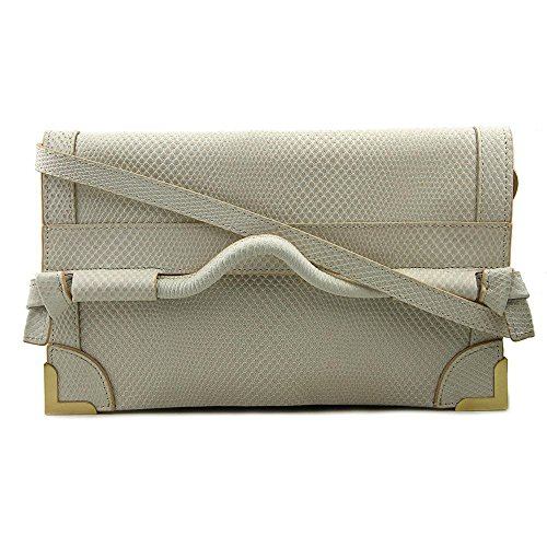 Foley + Corinna Framed Flap Crossbody Donna Pelle Shell