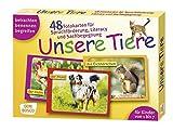 Unsere Tiere: 48 Fotokarten mit Begleitheft. Betrachten. Benennen. Begreifen. Für Kinder von 1 bis 7. (Fotokarten für Sprachförderung und Literacy)