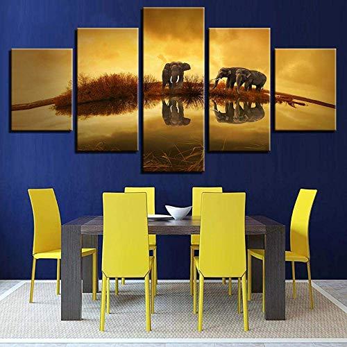 YSA Imágenes de Lienzo Decoración para el hogar Sala de Estar Arte...