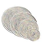 4er Untersetzer Mehrfarbig Tischuntersetzer für Gläser Tischset Tassen Teller Modern Runde