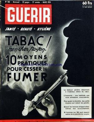 GUERIR [No 183] du 01/03/1951 - TABAC MO...