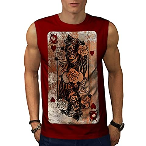 Gothic Heart Queen Men XL Sleeveless T-shirt |