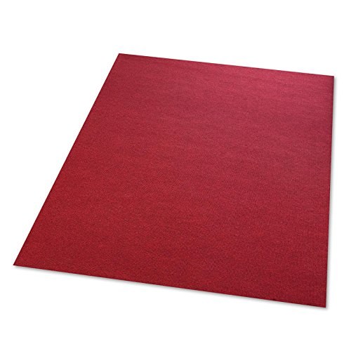 casa pura Needle Punch Carpet Flooring - Red | Safety Approved, Water Resistant | Size Selectable - 2000x200cm
