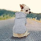 Idepet Haustier Kleidung Hundepullover Hunde Kleider welpen Pullover Hunde Warmer Mantel für Katzen Kleine Hunde Chihuahua Welpe Teddy Pudel (S, Grau)