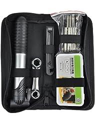 TRIXES Kit de Herramientas de Bici Con Reparador de Pinchazos y Bomba De Mano