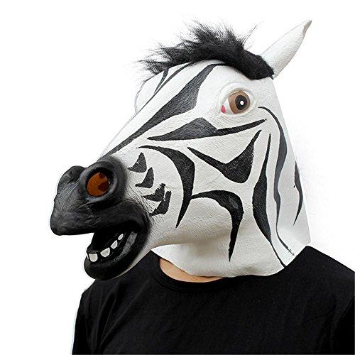 SQCOOL Halloween-Make-up Tanz Requisiten Latex Pferd Kopf Maske Kopf Abdeckung - Deadpool Halloween-make-up