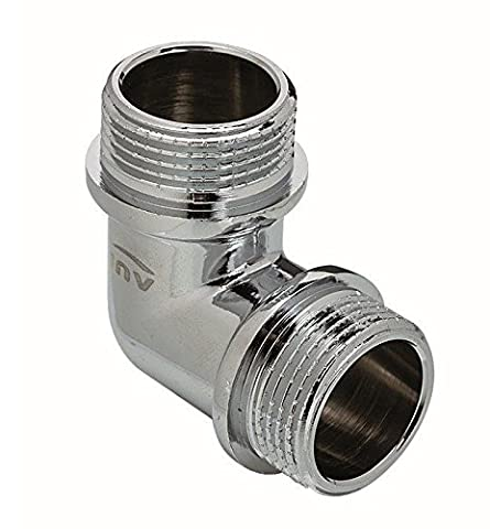 Chrome Plated Brass Male Elbow Pipe Fitting Connection MxM