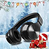 from OMORC Bluetooth Headphones, OMorc Wireless Foldable Over-Ear Hi-Fi Stereo Headset With Noise Cancelling Microphone, Supports Hands-Free Calling and Wired Mode for PC/ Cell Phones/ TV - Black