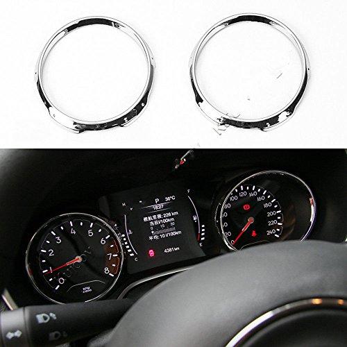 Daxey F¨¹r Jeep Compass 2017+ Armaturenbrett-Abdeckung Ring Trim Moulding Rahmen Dekor ABS [Silber] Iso Trim Ring