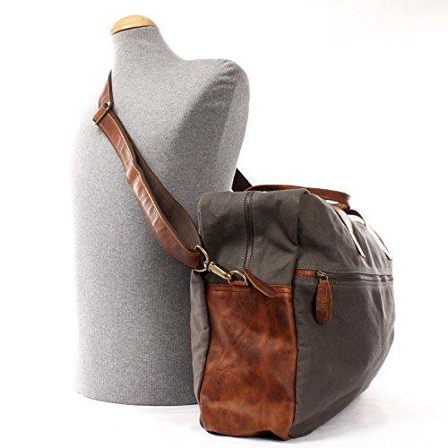 8efa60c21a8833 ... LECONI Weekender kleine Reisetasche Handgepäck für Damen + Herren  Fitnesstasche Sporttasche vintage Natur echtes Leder + ...