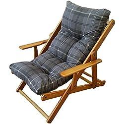 Sillón silla tumbona Relax 3posiciones de madera plegable cojín acolchado H 100cm salón cocina salón sofá Armchair Sofa '380076