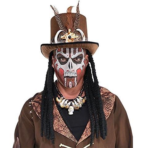Homme Witch Doctor Chapeau haut-de-forme avec Dreads Halloween Costume Prop