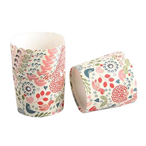 Blancho 100 PCS Tasse de Cupcake de papier de cuisson, Tasse de moule de cupcakes créative #14