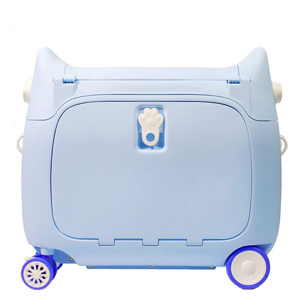 bdc61683a0ec FREEUP Kid's Ride-On Hand Luggage, Lighweight Hard shell Carry on Suitcase  18 inch, Children's Boys Girls Travel Trolley Case (Blue)