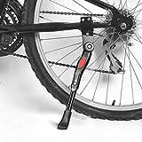 Fahrradständer,Faltbarer Fahrrad Ständer Einstellbarer Universal Aluminiunlegierung Fahrrad Ständer mit Anti-Rutsch Gummifuß für Mountainbike, Rennrad, Fahrräder und Klapprad,Schwarze (Schwarz)