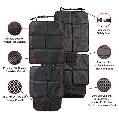 iRegro Protecteur de siège de voiture - la meilleure protection pour les sièges enfant et bébé et les Tapis pour chien–La couverture protège la tapisserie du cuir ou du tissu du véhicule