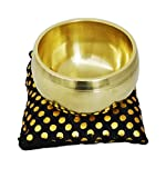 Zap Impex® Beautiful Handmade Brass Singing Bowl Tibetan Meditation Yoga Golden Colour