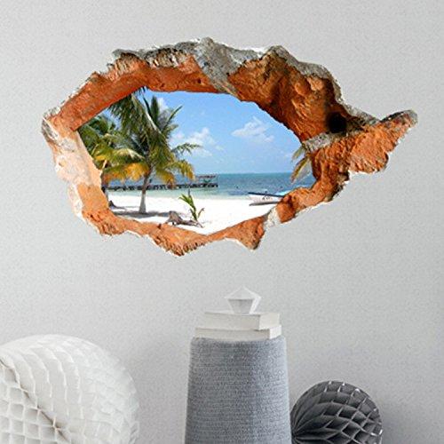 Preisvergleich Produktbild GJ-Die creative 3D Schlafzimmer Wohnzimmer Fernseher Sofa Hintergrund selbstklebende Abnehmbare stereo Wandmontage des CWeihnachtsgeschenke