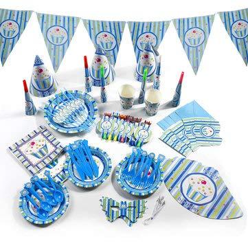 DyNamic 16Pcs Kindergeburtstag Party Supplies Kids Serviette Banner Geschirr Dekorationen - # 2