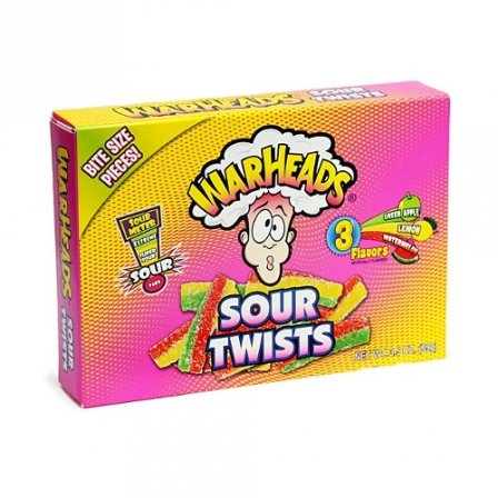 Warheads Sour Twists Theatre Box 3.5 OZ (99g)