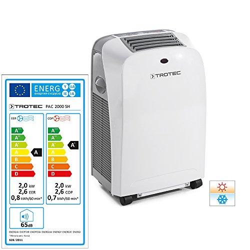 Trotec Local–Climatizador portátil Pac 2000SH con 2kW/7.000btu (eficiencia energética A) de 4en...