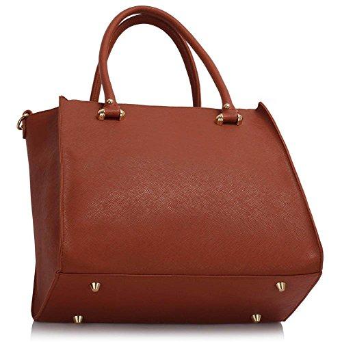 TrendStar Damen Entwerfer Schultertasche Damen Berühmtenart Kunstleder Handtaschen Braun