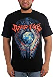 Rivers of Nihil - Mens Globe T-Shirt, Large, Black