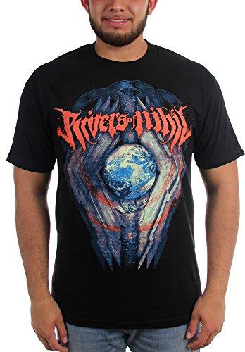 Rivers of Nihil-Globe-Maglietta da uomo nero Large