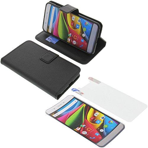 foto-kontor Tasche für Archos 50 Cobalt Book Style schwarz Schutz Hülle Buch + Schutzfolie