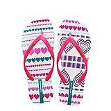 Hotmarzz Damen Zehentrenner Herz Liebe Mode Sandalen Sommer Strand Hausschuhe Haus Zuhause Rutschen Schuhe Size 37 EU/38 CN, Rose Rot