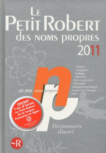 PETIT ROBERT NOMS PROPRES 2011 par Collectif