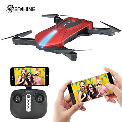 EACHINE E52 Drone With Camera Live Video, WIFI FPV Quadcopter With HD Camera Foldable Drone RTF - Altitude Hold, One Key Take Off/Landing, 3D Flip, Headless Mode, APP Control, RC Flying Toys