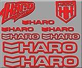 Ecoshirt NG-A437-5DIQ Autocollants HARO Bikes R200 Stickers Autocollants Rouge
