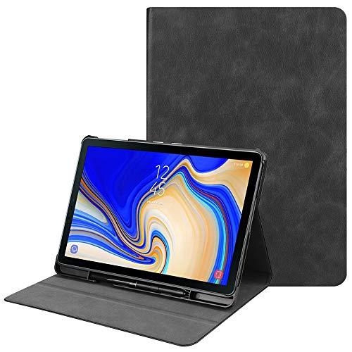 Samsung Galaxy Tab S4 Hülle Case mit S Pen Halter, Slim Ultraleicht PC TPU Shell Schutzhülle Tasche Cover mit Auto Schlaf/Wach Funktion für Samsung Galaxy Tab S4 10.5 Zoll 2018 (Schwarz)