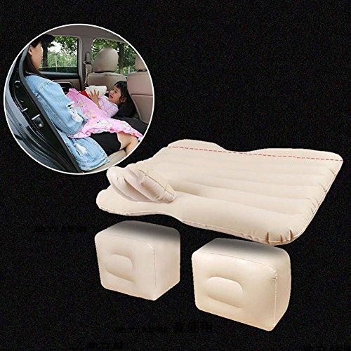 MIAO Aufgeteiltes Auto Kind aufblasbares Matratzen-Reise-Bett SUV Stamm Luft Bett mit aufblasbarer Pumpe und aufblasbarem Kissen * 2 , Beige - Kinder-foam-bett