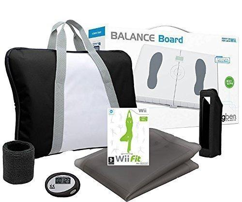 WII FIT- Balance Board weiss + Wii Fit Spiel + Training Pack (farbig sortiert) (Für Wii Training-spiele)