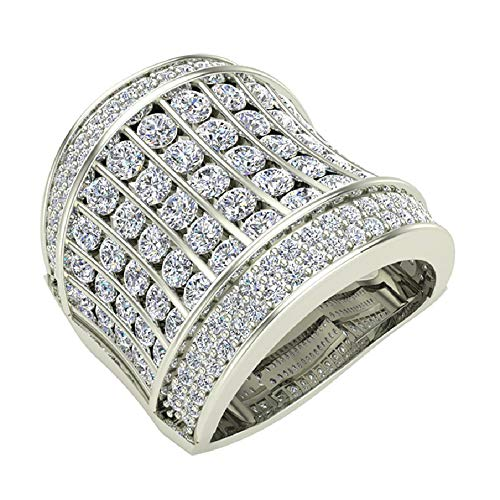 Glitz Design - 18 Karat Weißgold Brilliant Rund G-H Weißer Diamant