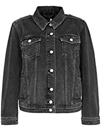Hallhuber Denim Jacket with Lace-up Effect