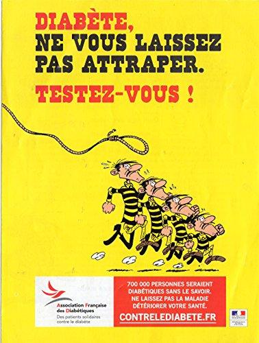 Morris - Lucky Luke/Les Dalton - Association Française des Diabétique/Laboratoires Fabre - Diabète, ne vous laissez pas rattraper. Testez-vous ! - affiche 60 x 40 cm