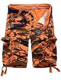 Pantalones De Camuflaje Hombre Pantalones para Verano De Sueltos Mode De  Marca Flojos para Exteriores Pantalones Cortos para… 2939f0b2a70f