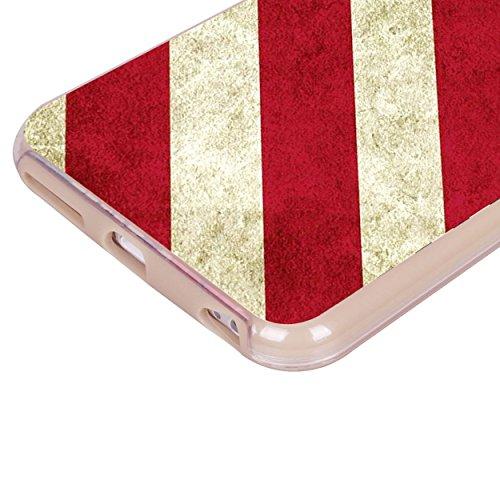 iPhone 6 6S Fall, Hülle, Case True Color® Vintage Grunge American Flag Slim Hybrid Hard Back + weich TPU Bumper Schutz Langlebig [True Schützen Serie] + kostenlosem Stylus und Displayschutzfolie gold
